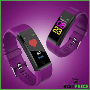 Часы фитнес-браслет с измерением пульса и давления Smart Band B05 Фиолетовый