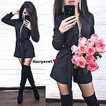 Женский комбинезон-ромпер с поясом на молнии с люрексовой нитью (в расцветках), фото 3