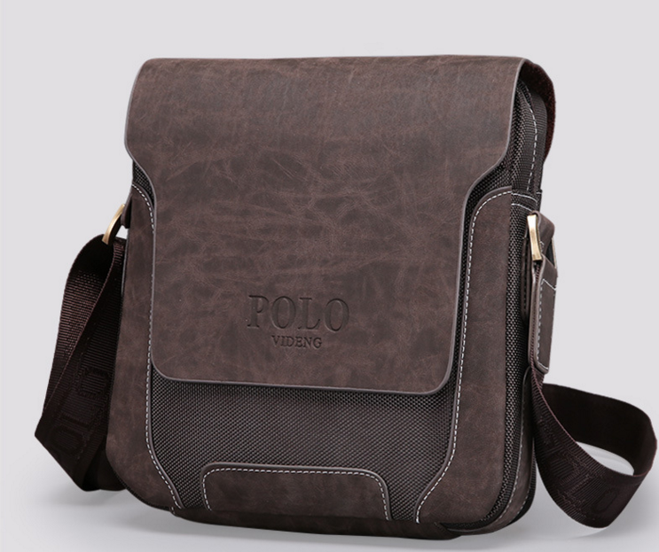 Мужская кожанная сумка Polo Оксфорд, Качественная реплика