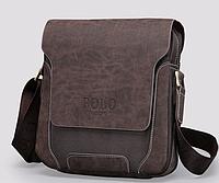 Мужская кожанная сумка Polo Оксфорд, Качественная реплика , фото 1