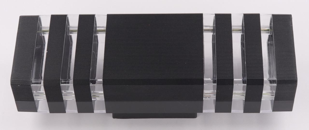 Фонарь настенный 8024/2-bk-p Черный 34х11х10 см.