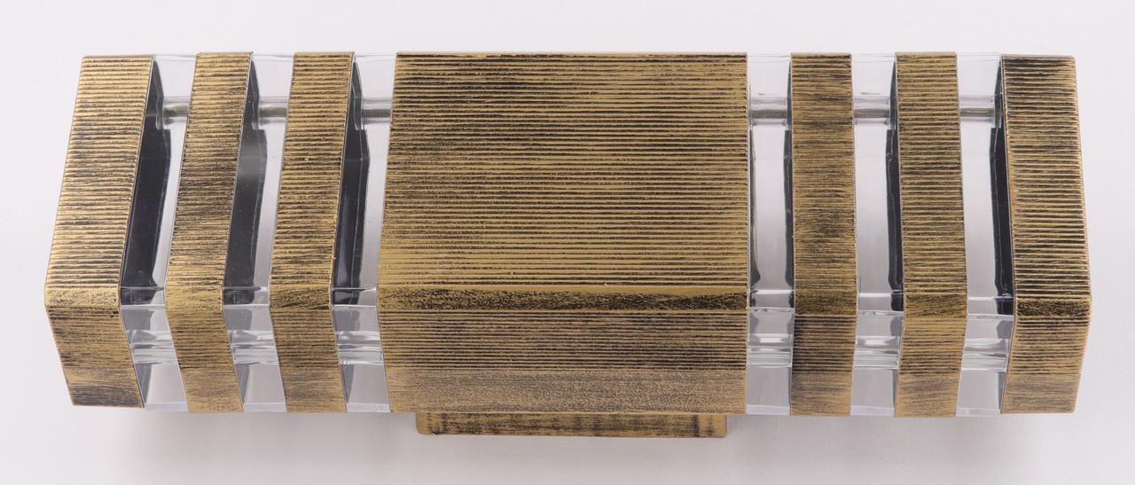 Світильник настінний/стельовий 8024/2-bg-s Золото 34х11х10 див.