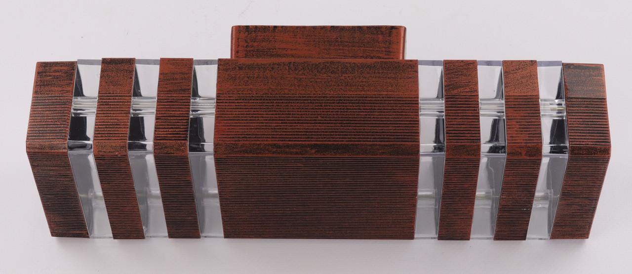 Світильник настінний/стельовий (34х11х10 див.) Мідний YR-8024/2-rab-s