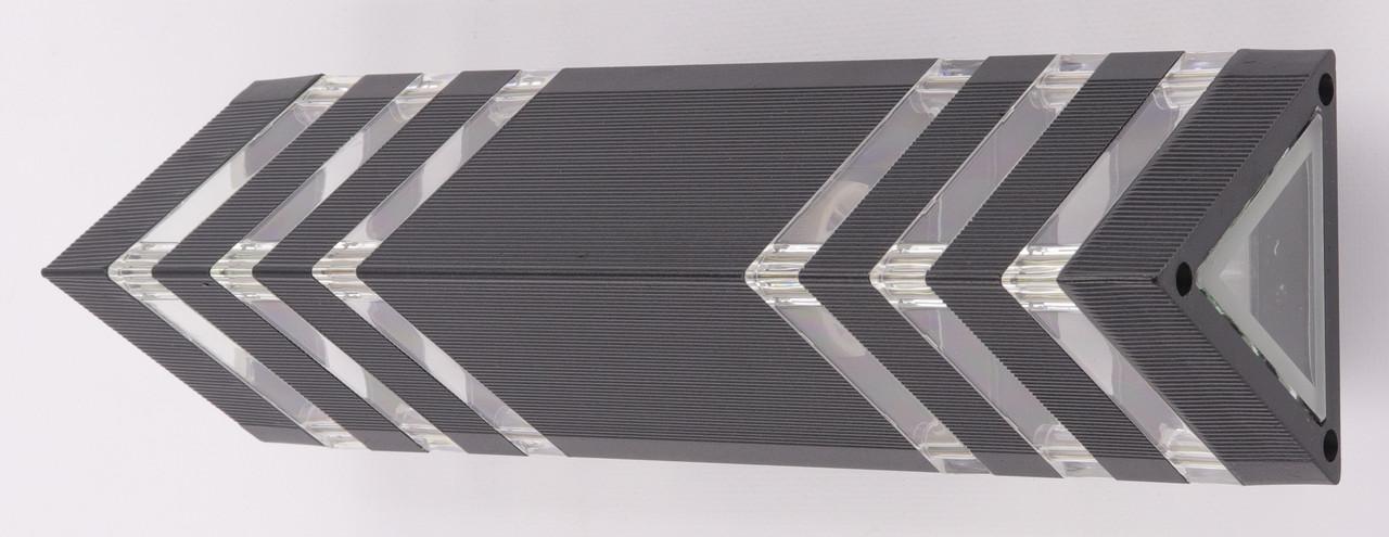 Настінний ліхтар 8023/2-bk-p Чорний 34х10х10 див.