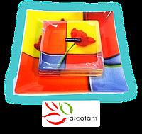 Набор квадратных тарелок  для суши ArcoFam 606