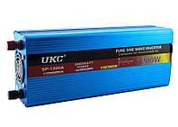 Преобразователь напряжения инвертор UKC SP 1200W 12V-220V с чистой синусоидой Blue (3_00265)