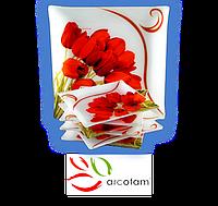 Набор квадратных тарелок  для суши ArcoFam 149