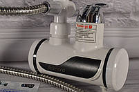 Кран - бойлер (Проточный водонагреватель Delimano  с экраном / кран мгновенного нагрева воды / подкл. сзади), фото 3