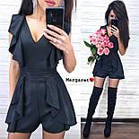 Женский комбинезон-ромпер с рюшами (в расцветках), фото 5