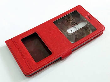 Чехол книжка с окошками momax для Nokia 5.1 красный