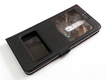 Чехол книжка с окошками momax для Nokia 5.1 черный