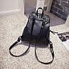 Женский рюкзак, черный рюкзак из эко-кожи, кожаный рюкзак на каждый день 2021 СС-6899-10 - Фото