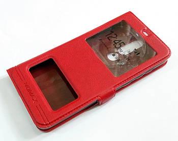 Чехол книжка с окошками momax для Nokia 5.1 Plus / Nokia X5 Красный