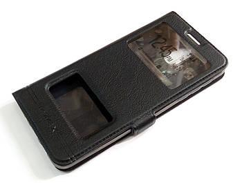 Чехол книжка с окошками momax для Nokia 3.1 черный