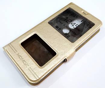 Чехол книжка с окошками momax для Nokia 6.1 Plus (Nokia X6) золотой
