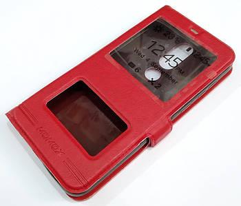 Чехол книжка с окошками momax для Nokia 6.1 Plus (Nokia X6) Красный