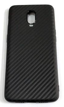 Чехол для OnePlus 6T силиконовый карбон