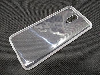 Чехол для OnePlus 6T силиконовый прозрачный с матовым ободком