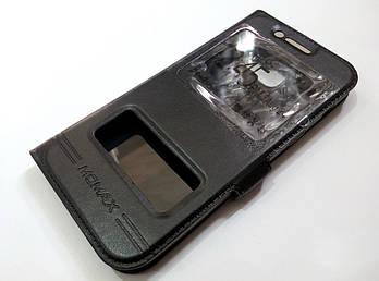 Чехол книжка с окошками momax для Samsung Galaxy A3 A320 (2017) черный