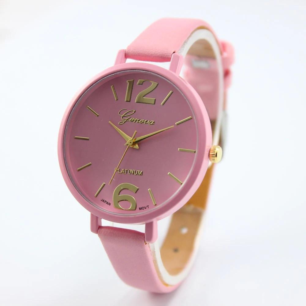 """Жіночі наручні годинники """"Geneva"""" (рожевий)"""