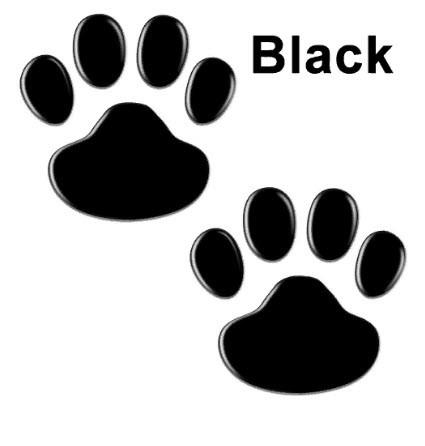 Зеркальные наклейки лапки животных 6*6см набор 2шт цвет черный