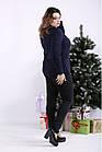 01330-3   Темная синяя блузка с V-образным вырезом большого размера 01330-3, фото 2