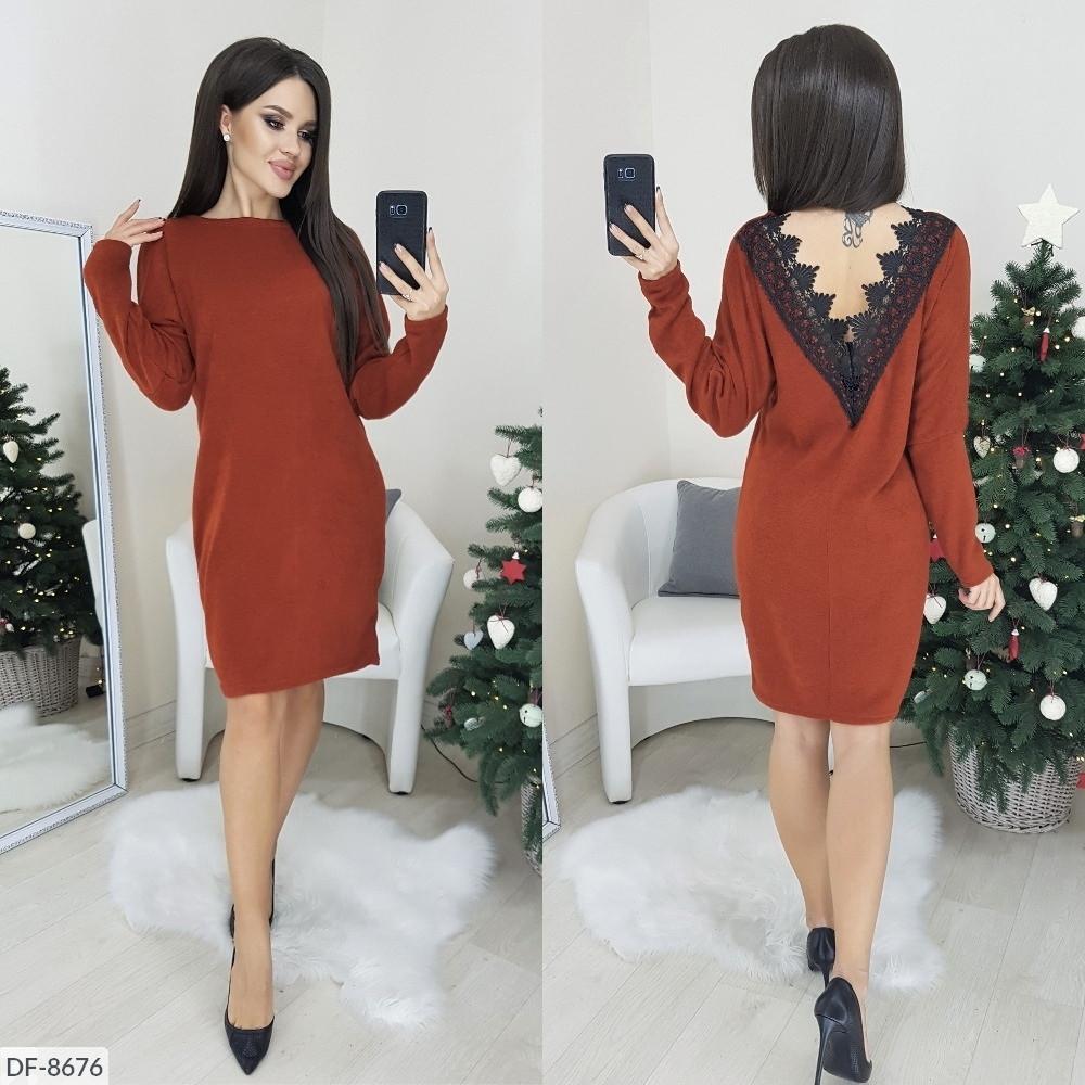 Стильное платье  (размеры 48-50) 0225-83