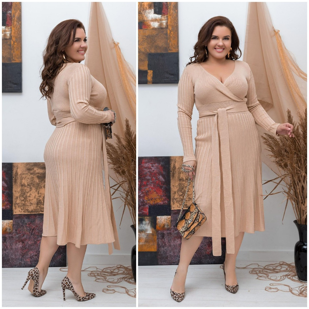 Нежное платье батал Размеры: On Size ботал  (48-50)