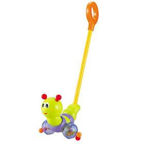 Детская Каталка-Гусеница с Ручкой и Музыкой Huile Toys  (686/9147)
