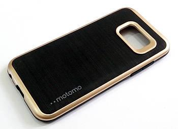 Чехол противоударный Motomo для Samsung Galaxy A3 A320 (2017) черный с золотым