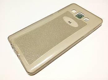 Чехол силиконовый с блестками для Samsung Galaxy A5 Duos a500h (2015) серый