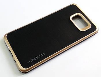 Чехол противоударный Motomo для Samsung Galaxy A5 A510 (2016) черный с золотым
