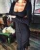 Облегающее платье футляр миди силуэтное сексуальное с декольте на пуговицах черное красное, фото 7
