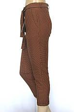 Жіночі брюки в клітинку гірчичного кольору, фото 3