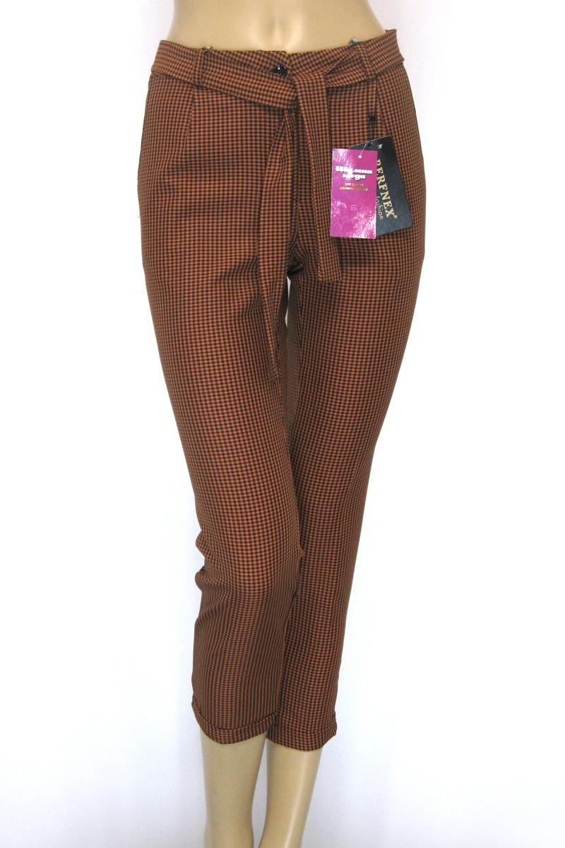 Жіночі брюки в клітинку гірчичного кольору