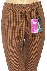 Жіночі брюки в клітинку гірчичного кольору, фото 2