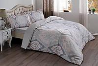 Двуспальное евро постельное белье TAC Vales Pink Сатин
