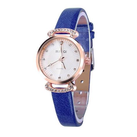 """Жіночі наручні годинники """"Mai Qi (синій), фото 2"""