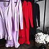 Облегающее платье футляр миди силуэтное сексуальное с декольте на пуговицах черное красное, фото 9