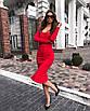 Облегающее платье футляр миди силуэтное сексуальное с декольте на пуговицах черное красное, фото 3