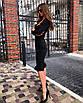 Облегающее платье футляр миди силуэтное сексуальное с декольте на пуговицах черное красное, фото 5