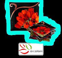 Набор квадратных тарелок  для суши ArcoFam 515