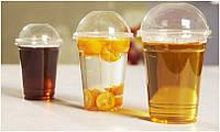 Пластиковый стакан с купольной крышкой 400мл