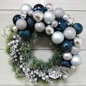 Різдвяний вінок Волинські візерунки з литого хвої