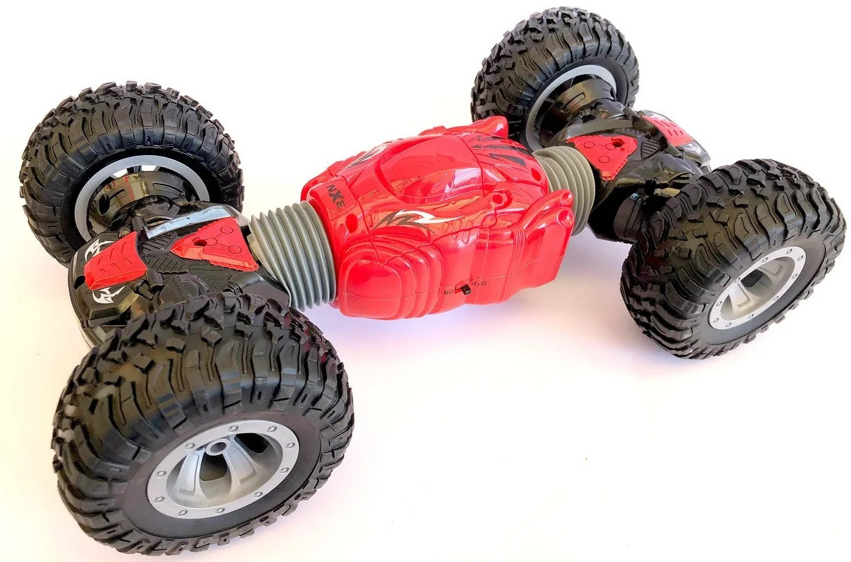 Машинка-перевёртыш на радиоуправлении Hyper Tunble Overlord 2488, красная