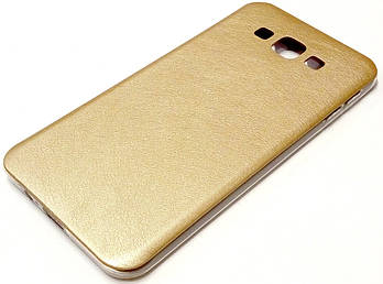Чехол силиконовый под кожу для Samsung Galaxy A8 A800 (2015) золотой