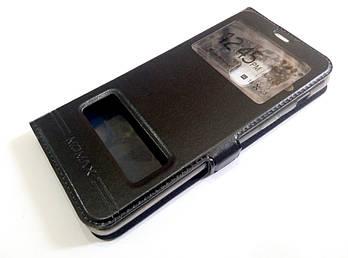 Чехол книжка с окошками momax для Samsung Galaxy A8 A530f (2018) черный