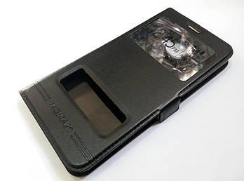 Чехол книжка Momax с окошками для Samsung Galaxy C5 c5000 черный