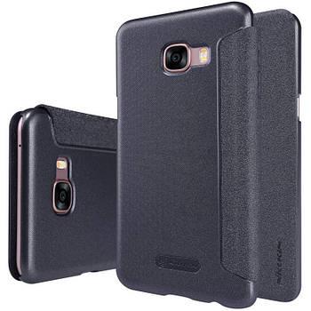 Чехол книжка Nillkin Sparkle Series для Samsung Galaxy C5 c5000 черный