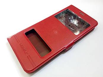 Чехол книжка с окошками для Samsung Galaxy C7 c7000 красный